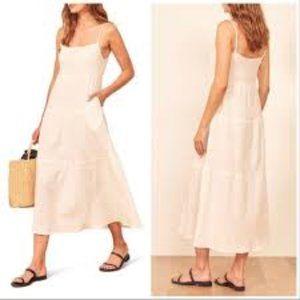 Reformation Ozark Dress White